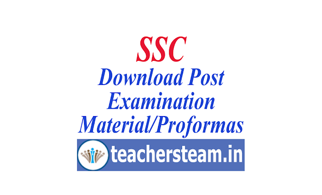 Post Examination Material/Proformas of SSC Exams