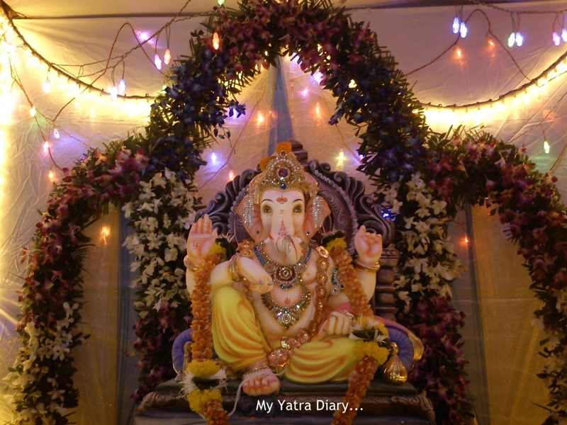Meeting ganesha mumbai ganpati pandal hopping my yatra diary Ganpati decoration design for home