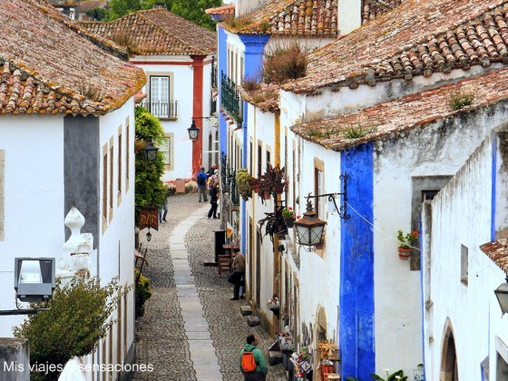 calles del casco antiguo de Óbidos, Portugal