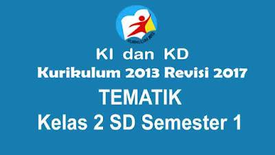 KI dan KD Tematik Kelas 2 SD Semester 1 Kurikulum 2013 Revisi 2017