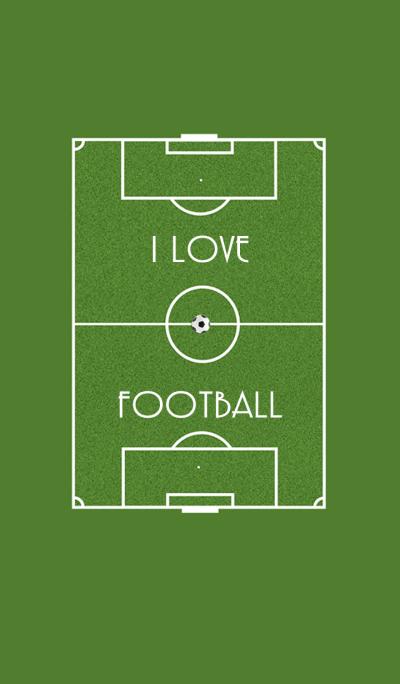 Football field I love football (JP)