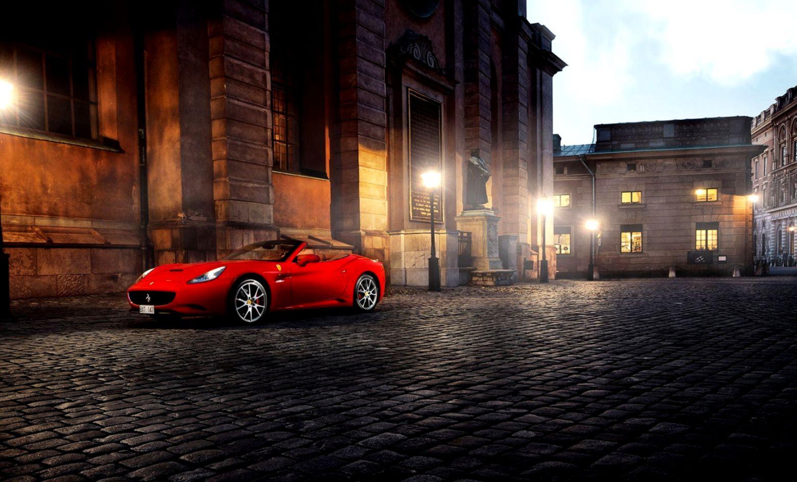 Ferrari California Red Car Parking Hd Wallpaper Free HD Wallpapers