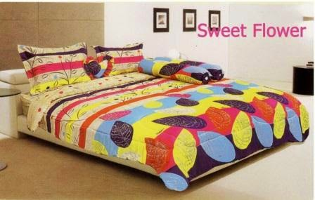 Sprei rainbow disperse aromateraphy  sweet lover