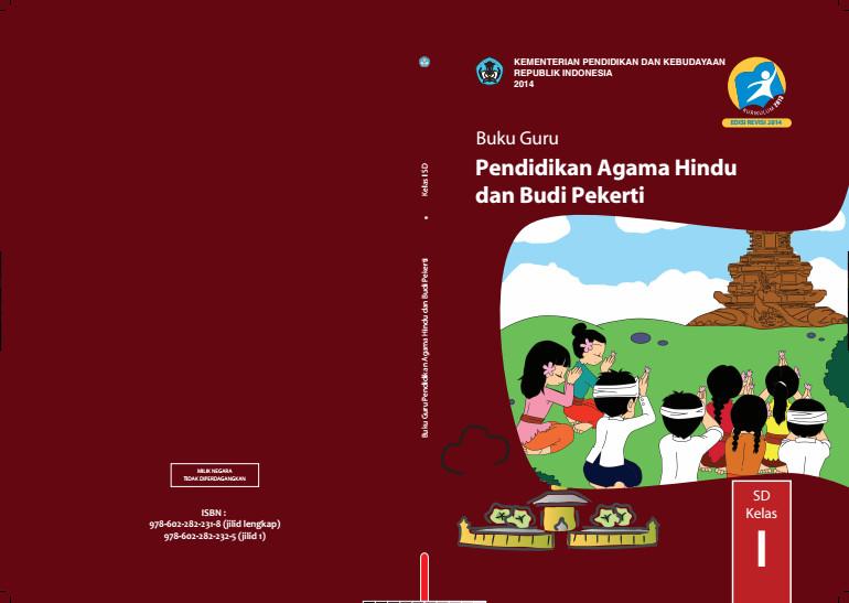 Download Gratis Buku Guru Pendidikan Agama Hindu Dan Budi Pekerti Kelas 1 SD Kurikulum 2013 Format PDF