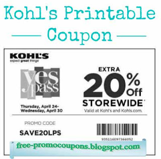 kohls promo codes september 2019