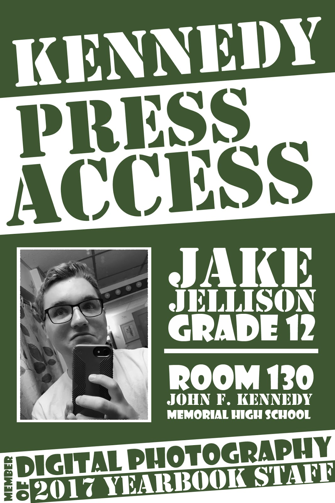 Pryor Middle School Yearbook Yearbook Press Pass Template