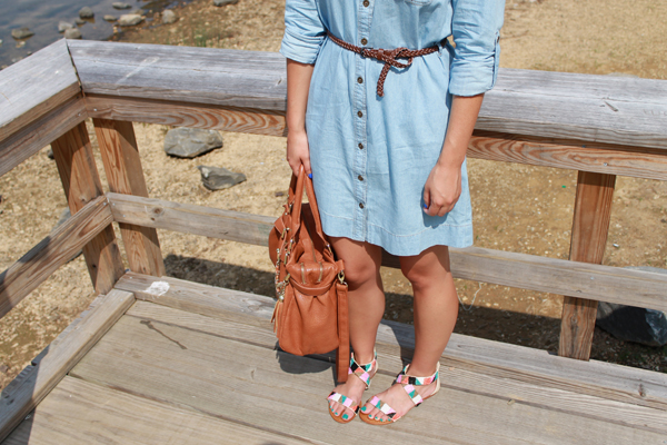Forever 21 chambray shirtdress