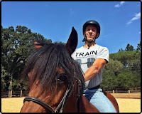 Steven Rice Fitness horseback riding in Woodside