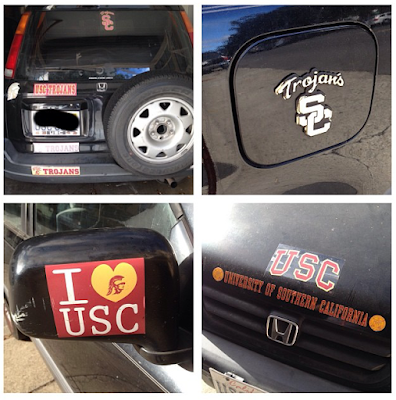 Car Usc Bumper Stickers Covered