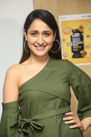 Pragya Jaiswal in a single Sleeves Off Shoulder Green Top Black Leggings promoting JJN Movie at Radio City 10.08.2017 100.JPG