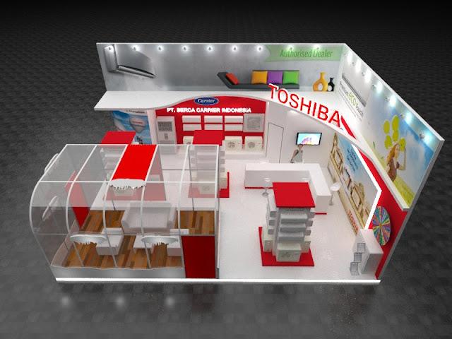 3 Model Desain Booth Pameran Indoor Sederhana dan Murah
