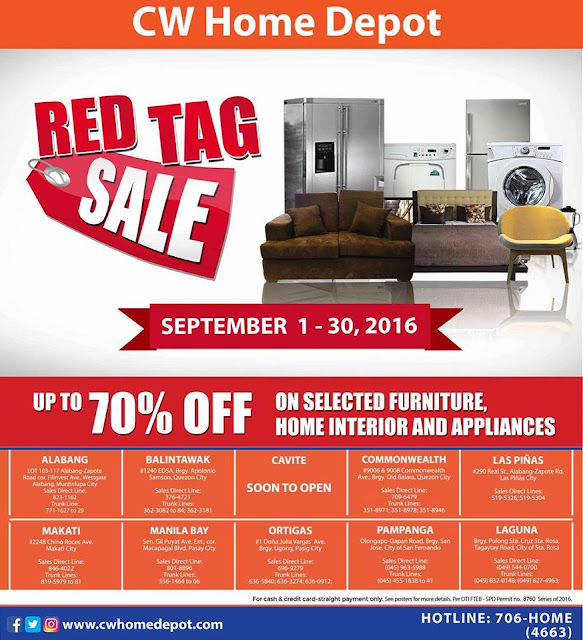 Manila Shopper Cw Home Depot Red Tag Sale Sept 2016