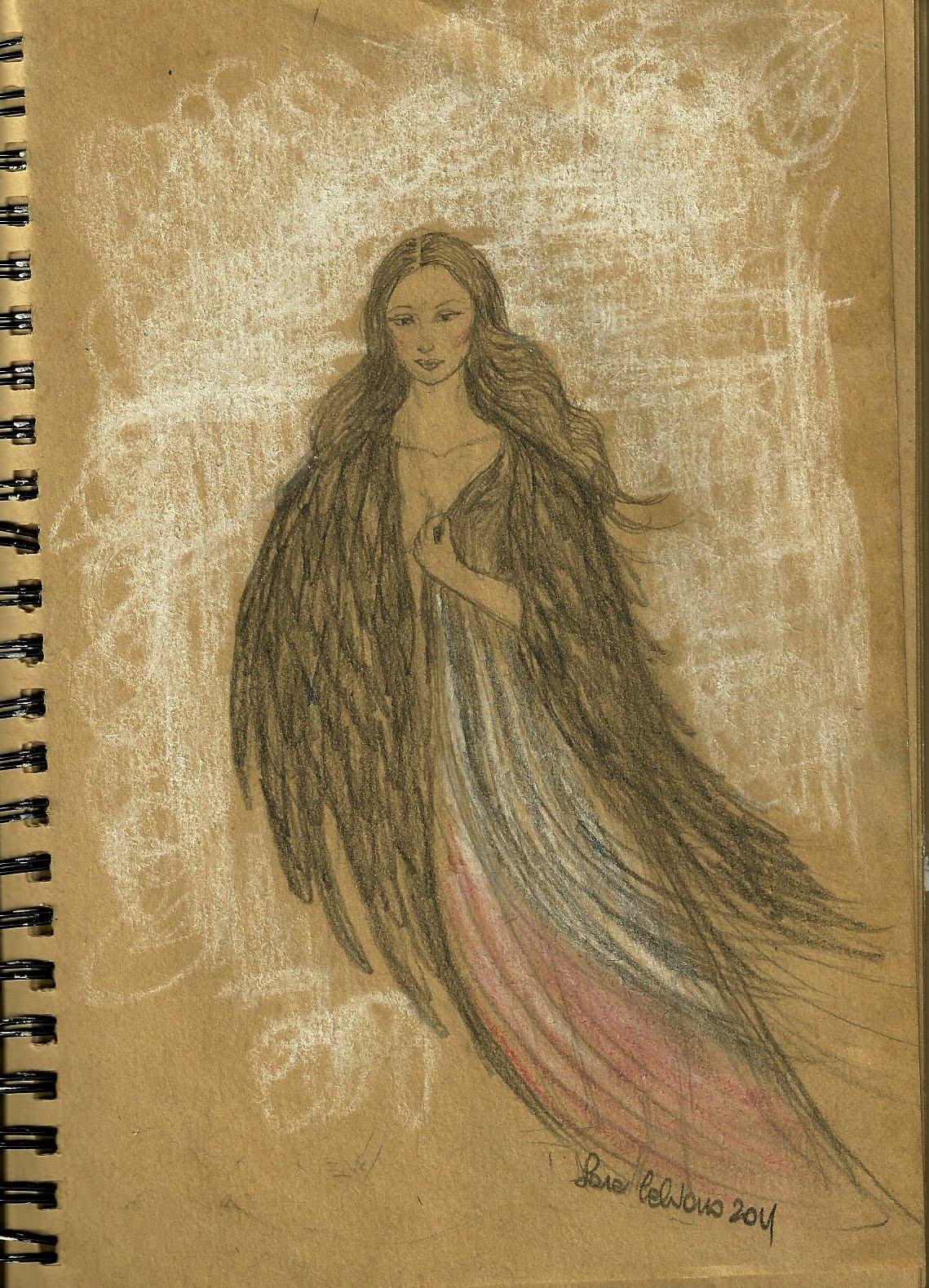 Il giardino dei coriandoli sketchavember aedm xxi day - Un angelo alla mia tavola ...