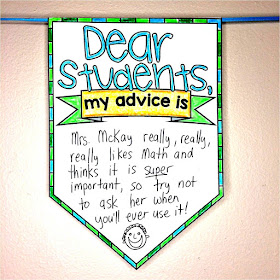 """My Advice to Next Year's Students"" Pennant end-of-year activity"