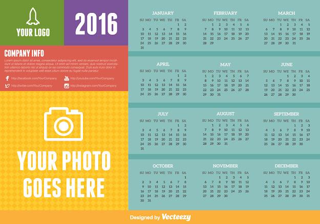 Vector Template  Calendar