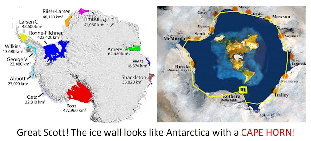 Flat Earth Map Ice Wall.Conjecture Views A Mazing Flat Earth And The Way Out At Land S End