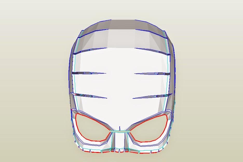 Dali-Lomo  Captain America Costume Helmet DIY  Cardboard (pepakura template) 2eef833c216c