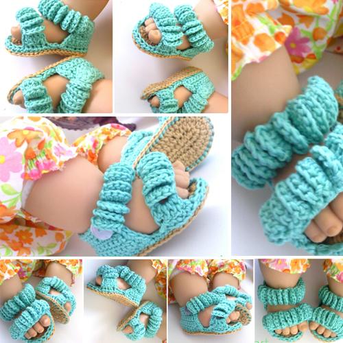 Baby Crochet Sandals - Free Pattern
