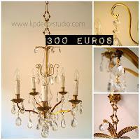 Tienda vintage online de lámparas antiguas de lágrimas y velas estilo chandelier. Valencia