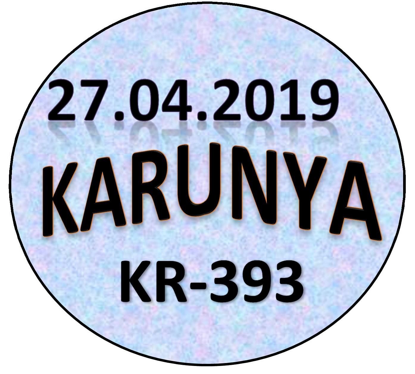 KARUNYA KR-393 | 27 04 2019 | Kerala Lottery Guessing and