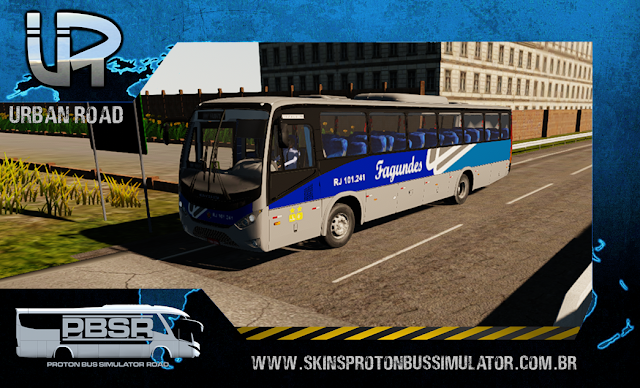 Skin Proton Bus Simulator Road - Ideale 770 OF-1721 BT5 Viação Fagundes