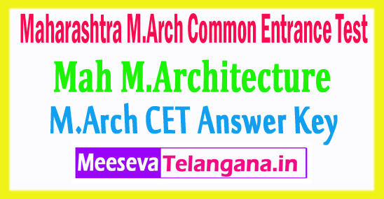 Maharashtra M.Arch Common Entrance Test CET Answer Key 2018 Download