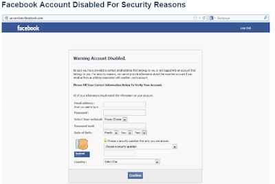 For Security Reasons Your Account Has Been Disabled Facebook