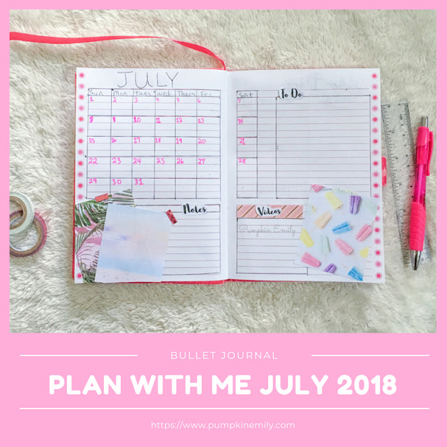 Plan With Me July 2018 Bullet Journal Setup