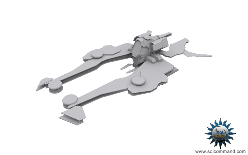 gasan fighter space ship spacecraft combat light heavy medium dominium game 3d model concept art solcommand interceptor