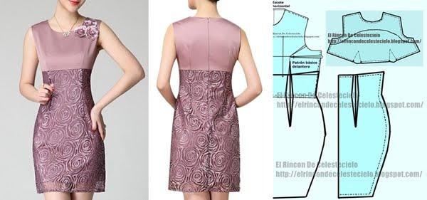 Como hacer un patron vestido recto mujer