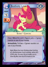 My Little Pony Brotherly Love Marks in Time CCG Card