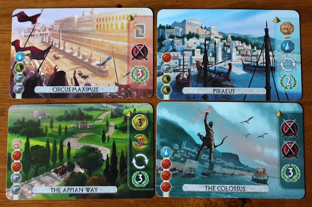 7 Wonders: Duel - wonder cards