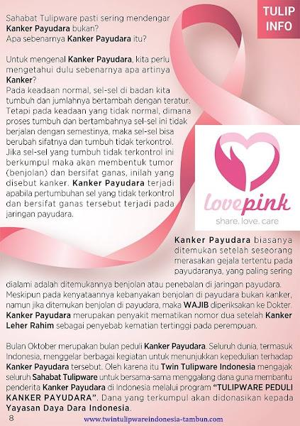 Tulip Info Oktober 2017, Love Pink kanker payudara