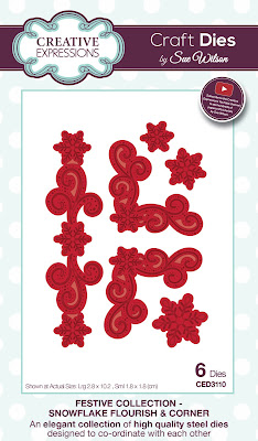 Festive Collection Snowflake Flourish and Corner Dies - CED3110