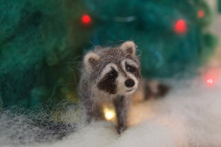 Needle Felt raccoon
