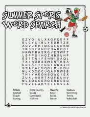 image about Sports Word Search Printable identified as Best 10 Free of charge and Printable Summer season Phrase Lookups that yourself can seek the services of