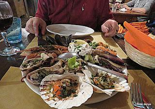 seafood at Il Paradiso Perduto, Venice