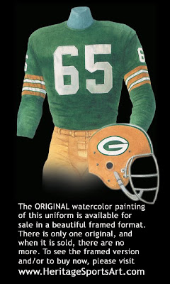 Green Bay Packers 1966 uniform