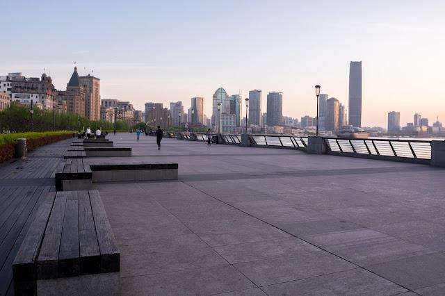 Shanghai, Šanghaj, Bund, Waitan východ slunce, sunrise, čína, china