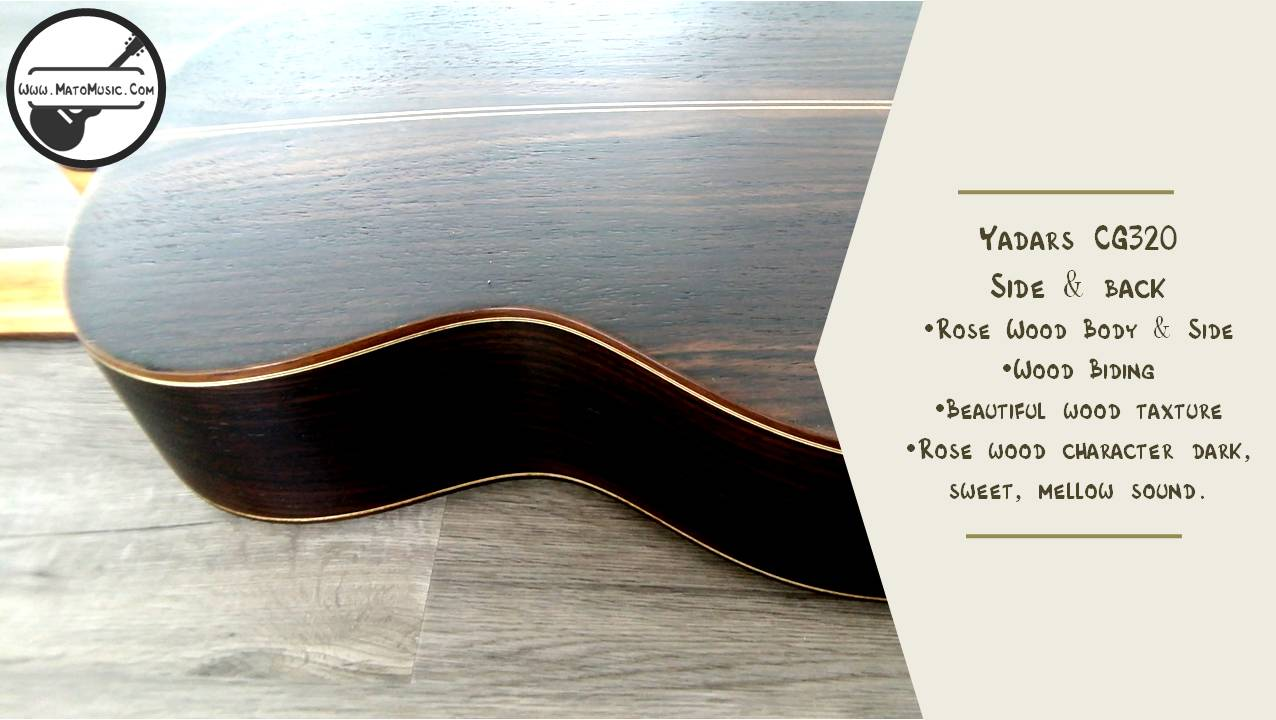 Yadars CG320 Classical Guitar With Solid Cedar Top Specification 07