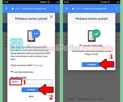 cara ubah nomor telepon pemulihan di akun google