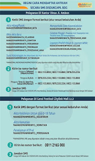 No SMS Mendaftar Antrian DISDUKCAPIL Kota Bandung dan ...