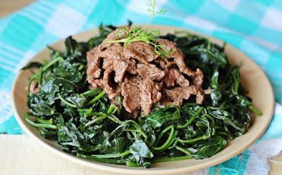 Nộm rau lang thịt bò
