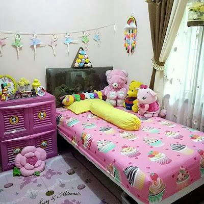Warna Cat Kamar Tidur Pink Sederhana Ukuran kecil | Remaja Perempuan