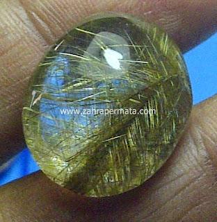 Batu Permata Kecubung Rambut Emas - ZP 463