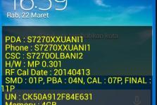 Cara Menghilangkan Tulisan Kuning di Samsung GT-S7270 Tanpa Root