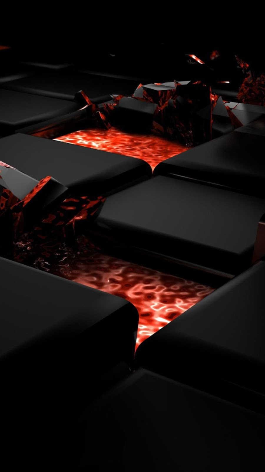 Red And Black 3D Creative Design HD IPhone 7 Plus Wallpaper