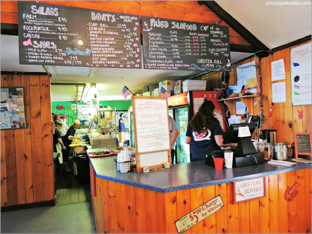 Lobster Shacks en Massachusetts: Menú del The Lobster Pool Restaurant