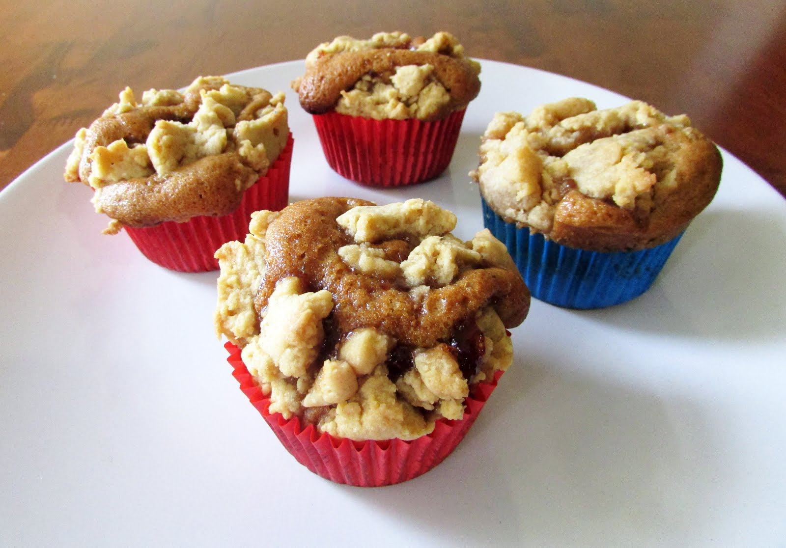 The Ugly Muffin: Peanut Butter and Jelly Crumb Muffins
