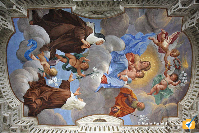 Affresco all'interno del santuario
